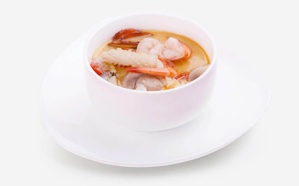 "Hot soup ""Tom Yam"" in Almaty 